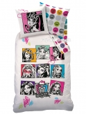 Pościel MONSTER HIGH LALKI 160x200 (70x80)