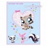 Koc polarowy LITTLEST PET SHOP CATS 130X160